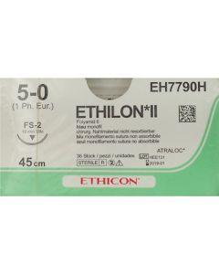 Ethicon Ethilon 5-0 blauw 45cm nld FS-2 EH7790H