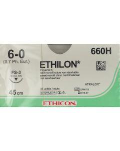 Ethicon Ethilon 6/0 zw.45cm FS3 660H