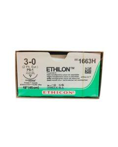 Ethicon Ethilon 3-0 Zwart 45cm nld PS-1 1663H
