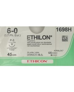 Ethicon Ethilon 6-0 zwart 45cm nld PS-3 1698H