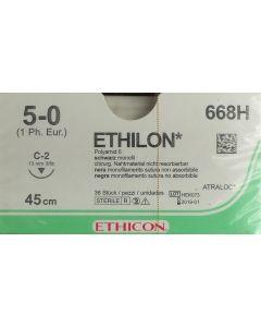 Ethicon Ethilon 5-0 zwart 45cm nld C-2 668H