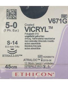 Ethicon Vicryl 5-0 S14 V671G