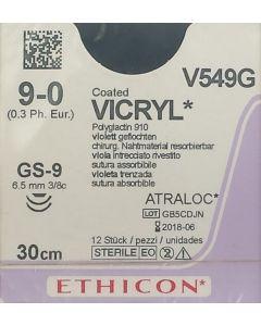 Ethicon Vicryl 9-0 30cm GS-9  V549G