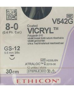 Ethicon Vicryl 8-0 30cm GS12 V542G