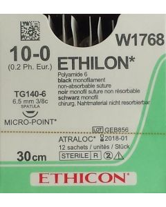 Ethicon Ethilon 10-0 30cm M0.2 12 stuks W1768