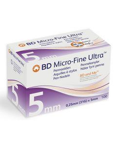 BD Mirco-Fine Ultra™ pennaald 0.25mm (31G) x 5mm