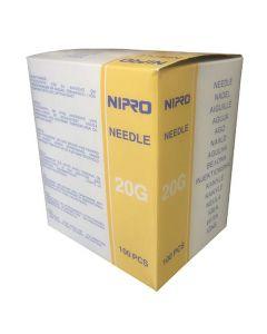 Nipro injectienaalden 0.9 x 50mm geel