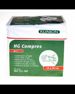 Klinion HG kompres 10 x 10 cm