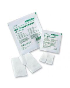 Klinion NW Drainkompres 4-laags steriel 10x10cm