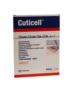 Cuticell Classic zalfgaas 7.5cm x 7.5cm steriel
