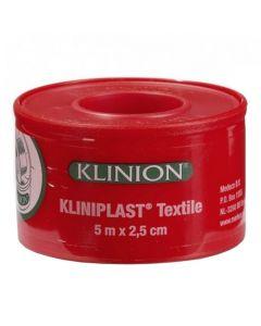 Klinion Kliniplast Textile hechtpleister 5m x 2.5cm