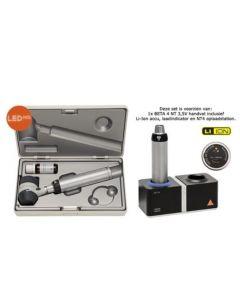 Heine Delta 20 T dermatoscoop set met 3,5 volt NT tafellader