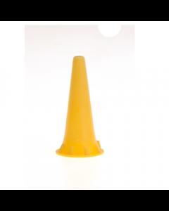 Otoscoop tips geel 2.5mm voor Heine