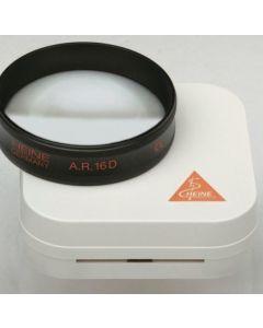 Heine asferische A.R. 16D ophthalmoscoop loep lens 54mm in hard etui