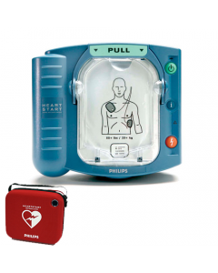 Philips Heartstart HS1 AED met rode tas