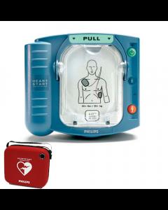 Philips Heartstart HS1 AED met rode tas