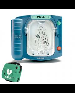 Philips Heartstart HS1 AED met groene tas