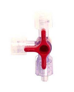 Medisize steriel driewegkraan rood