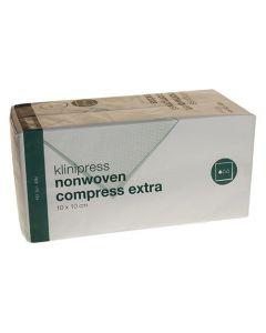 Klinion kompres extra nonwoven 10 x 10cm 8-laags
