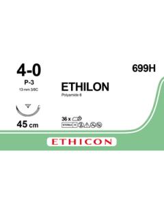 Ethicon Ethilon 4-0 zwart 45cm nld P3  699H