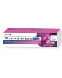 Sanias Miconazolnitraat crème 30gr.