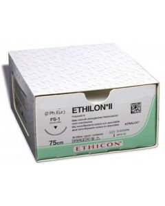 Ethicon Ethilon 4/0 naald PS-2  45cm  EH7163H hechtdraad