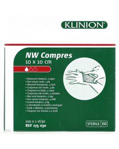 Klinion NW kompres 10 x 10 cm steriel