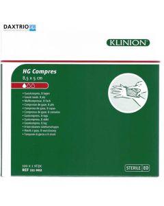 Klinion HG kompres 5 x 8.5 cm steriel