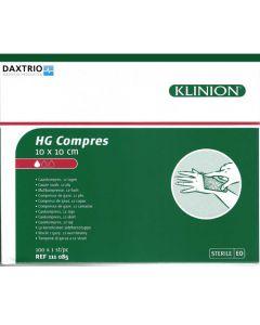 Klinion HG kompres 10 x 10 cm steriel