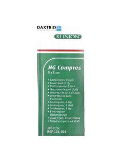 Klinion HG kompres 5 x 5 cm