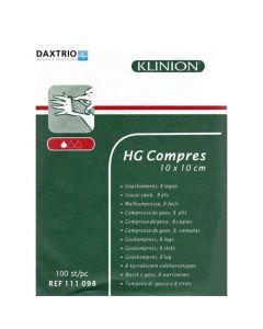 Klinion HG kompres 10 x 10cm 100st.