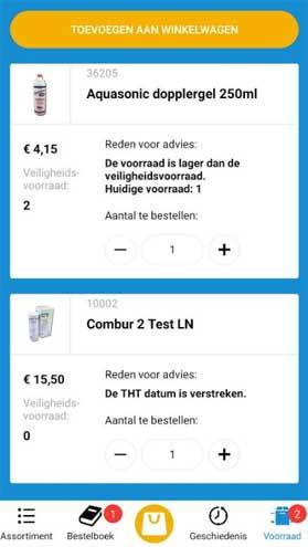 Voorraad Advies Daxtrio App